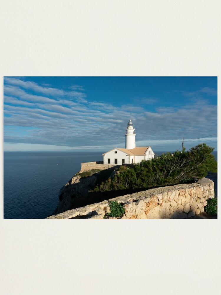 Alternate view of Mallorca lighthouse Photographic Print