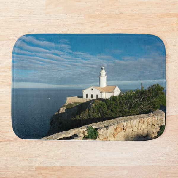 Mallorca lighthouse Bath Mat