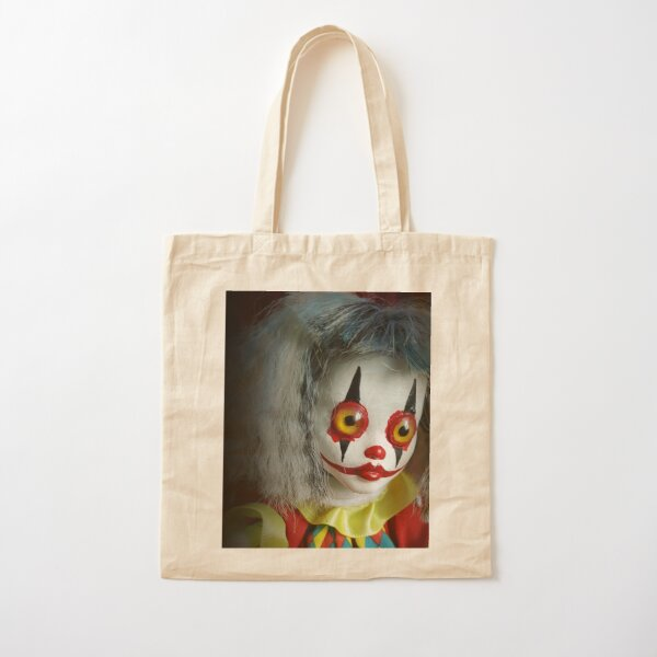 Jack In The Box Clown Horror Doll ~ Lady Scream Cotton Tote Bag