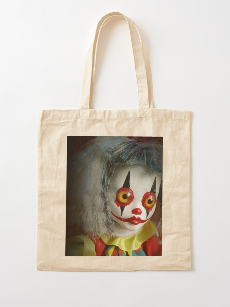 Alternate view of Jack In The Box Clown Horror Doll ~ Lady Scream Tote Bag