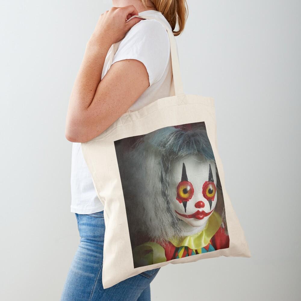 Jack In The Box Clown Horror Doll ~ Lady Scream Tote Bag