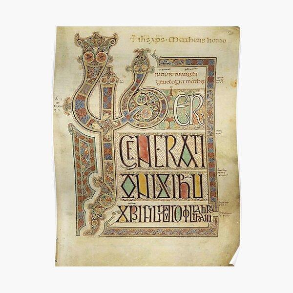 Evangelios de Lindisfarne. Folio 27r. Póster