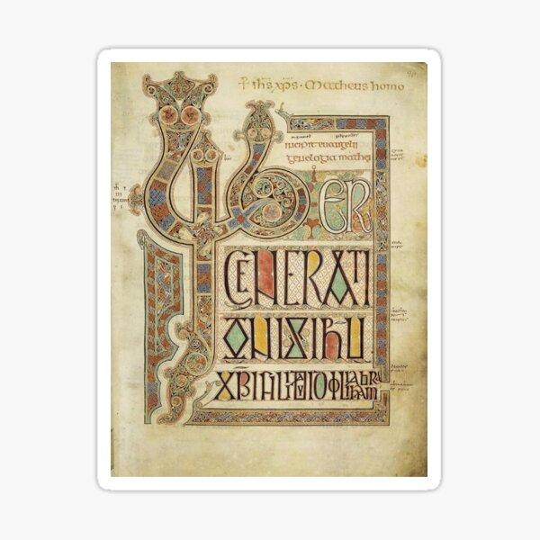 Lindisfarne Gospels. Folio 27r. Sticker