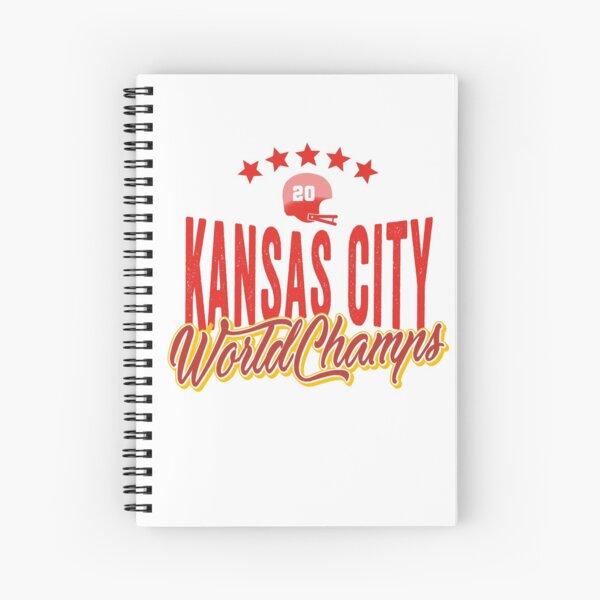 KC Face mask Kansas City facemask KC Kansas City Football Red Vintage Gear Unique Kansas City Champs Design 2020 Spiral Notebook