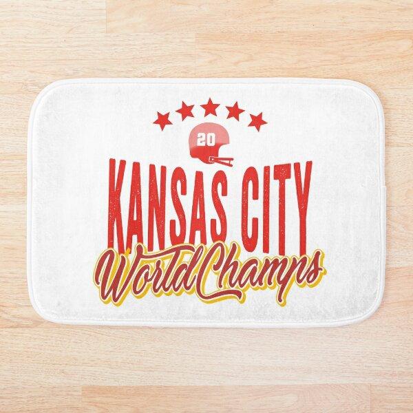 KC Face mask Kansas City facemask KC Kansas City Football Red Vintage Gear Unique Kansas City Champs Design 2020 Bath Mat