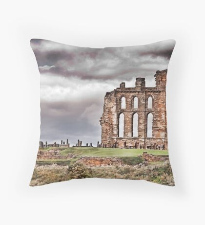 The Ruins of Tynemouth Priory Throw Pillow