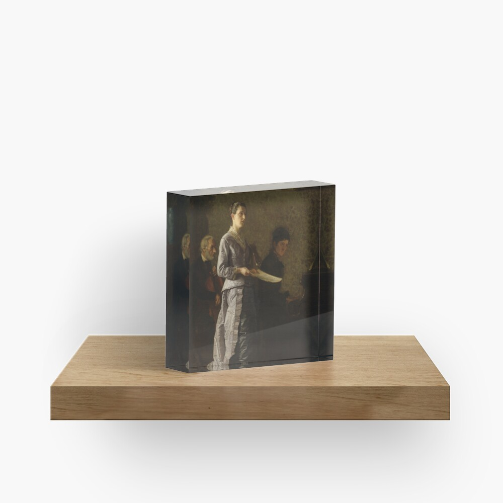 Singing a Pathetic Song Oil Painting by Thomas Eakins Acrylic Block