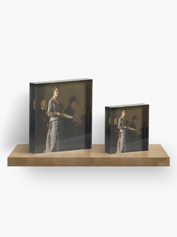 Alternate view of Singing a Pathetic Song Oil Painting by Thomas Eakins Acrylic Block