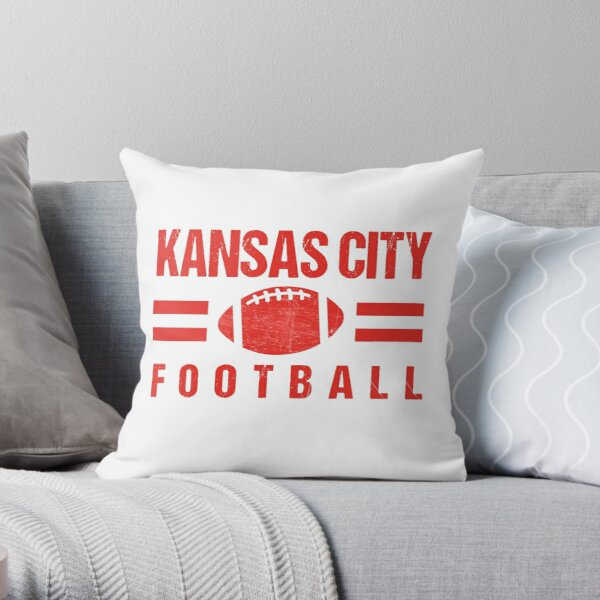 KC Kansas City Football Red and KC Yellow KC Tailgating Champs 2020  Throw Pillow