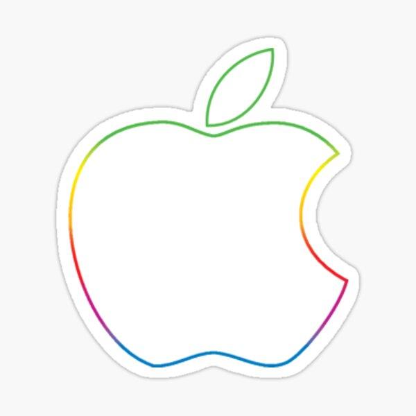 Apple Logo - Rainbow Sticker