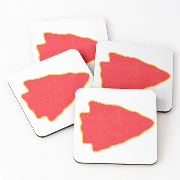 Kansas City Arrowhead KC Football Kc football Vintage Kingdom Kansas city Pro Gear Coasters (Set of 4)