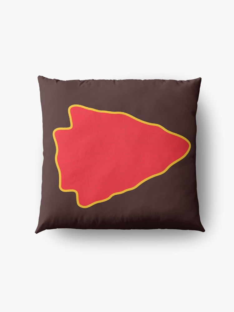 Alternate view of Kansas City Arrowhead KC Football Kc football Vintage Kingdom Kansas city Pro Gear Floor Pillow