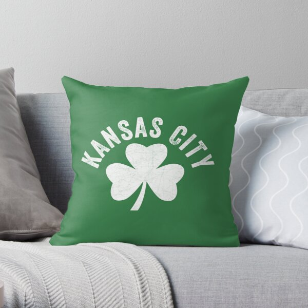 KC Face mask Kansas City facemask Kansas City Irish KC Ireland Kc Local Irish Community Throw Pillow