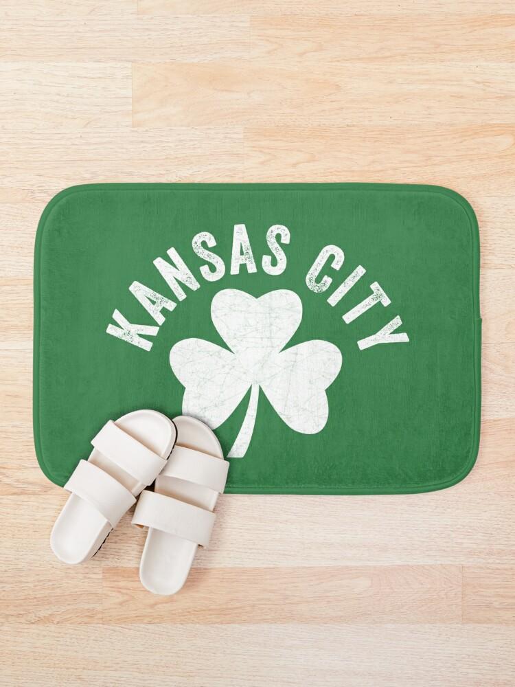 Alternate view of KC Face mask Kansas City facemask Kansas City Irish KC Ireland Kc Local Irish Community Bath Mat