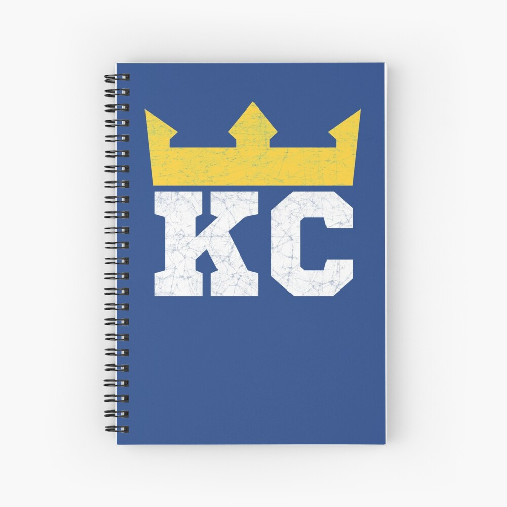 Kansas City Royal Blue KC Crown Town KC Baseball Fan Gear Kansas Citian KC Face mask Kansas City facemask Spiral Notebook