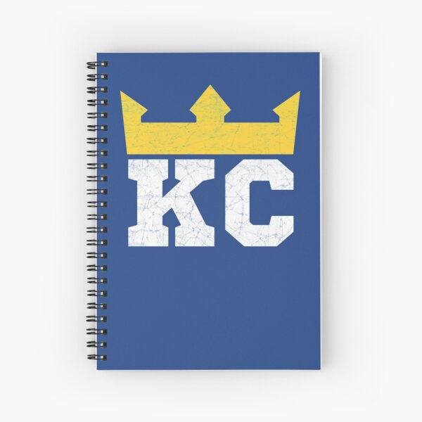Kansas City Royal Blue KC Crown Town KC Baseball Fan Gear Kansas Citian KC Face mask Kansas City facemask Spiral Notebook