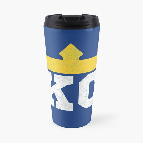 Kansas City Royal Blue KC Crown Town KC Baseball Fan Gear Kansas Citian KC Face mask Kansas City facemask Travel Mug