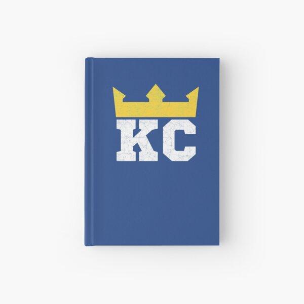 Kansas City Royal Blue KC Crown Town KC Baseball Fan Gear Kansas Citian KC Face mask Kansas City facemask Hardcover Journal