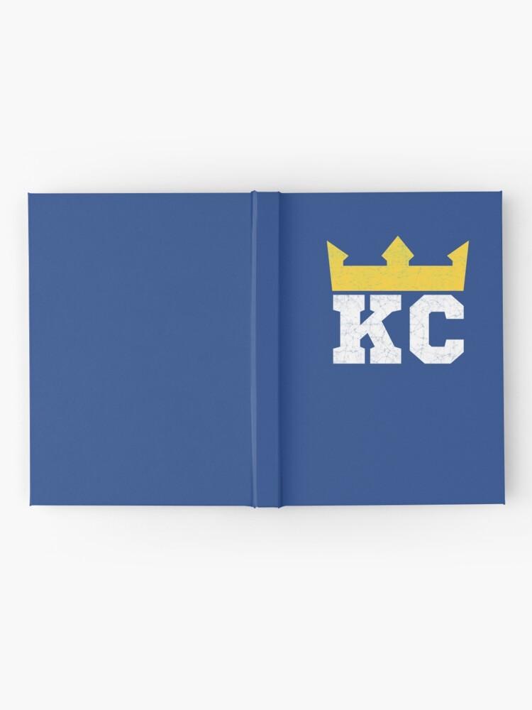Alternate view of Kansas City Royal Blue KC Crown Town KC Baseball Fan Gear Kansas Citian KC Face mask Kansas City facemask Hardcover Journal