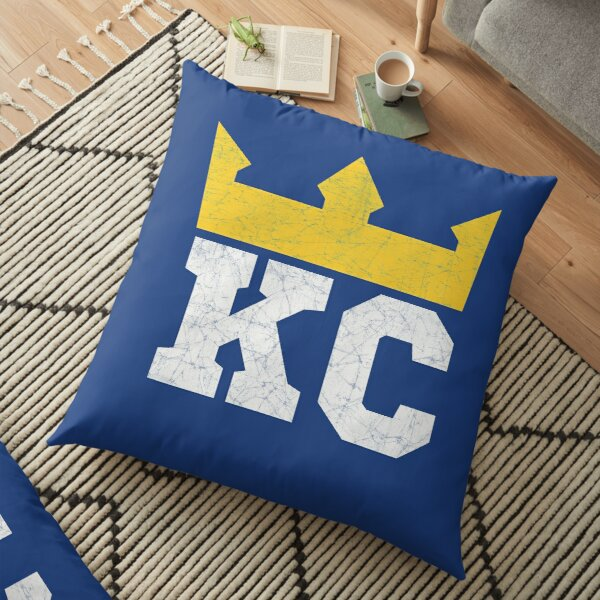 Kansas City Royal Blue KC Crown Town KC Baseball Fan Gear Kansas Citian KC Face mask Kansas City facemask Floor Pillow