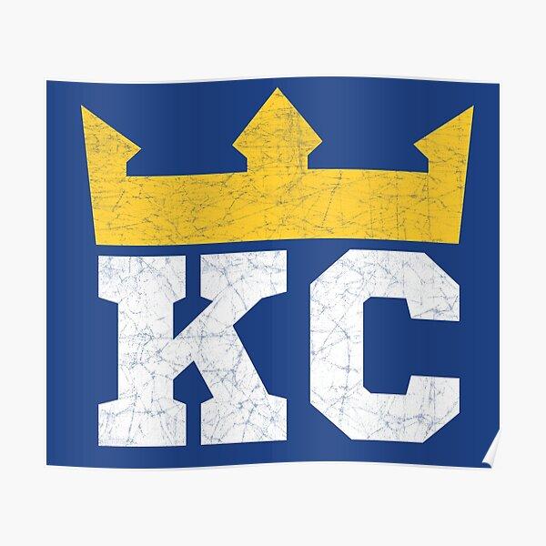 Kansas City Royal Blue KC Crown Town KC Baseball Fan Gear Kansas Citian KC Face mask Kansas City facemask Poster