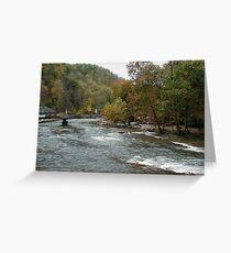 North Carolina White Water Greeting Card