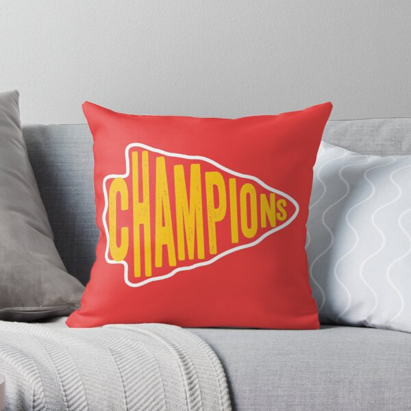 KC Face mask Kansas City facemask KC Champions Arrowhead Red Kingdom 2020 Kansas City Champs, Sports & Football Fan Classic Throw Pillow