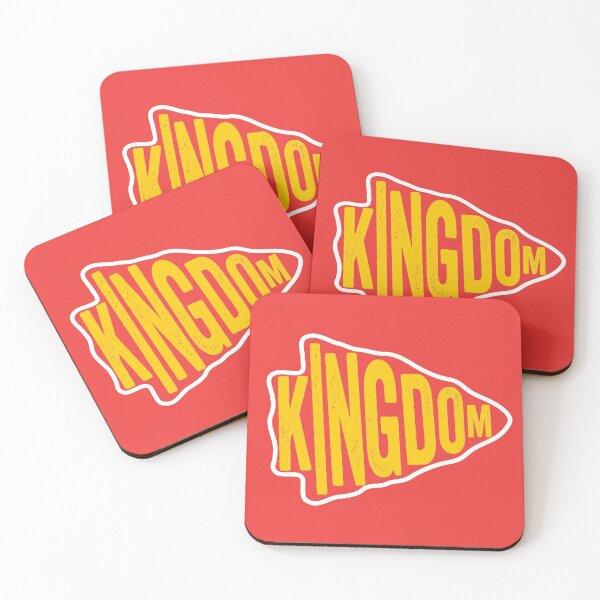 KC Face mask Kansas City facemask KC Red Kingdom Kansas City 2020 Sports & Football Fan Classics Coasters (Set of 4)