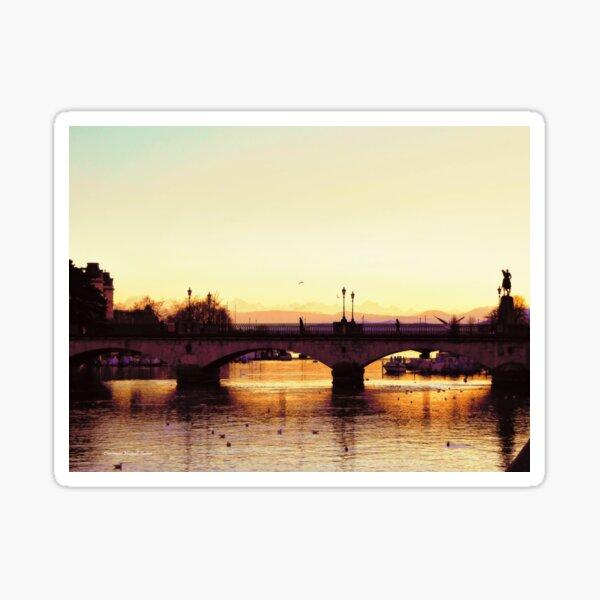 Limmat Sunset Sticker