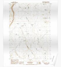 USGS Topo Map Oregon Sagebrush Knoll 281358 1984 24000 Poster