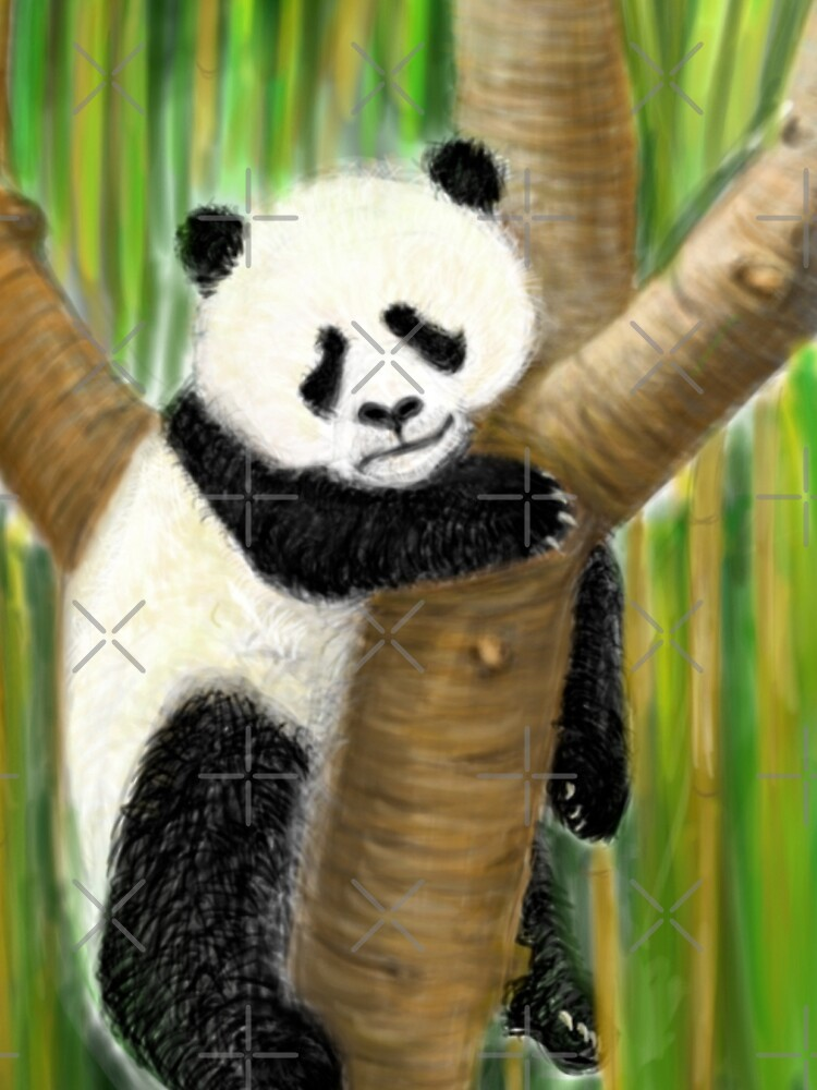 panda forest tree  by mayerarts
