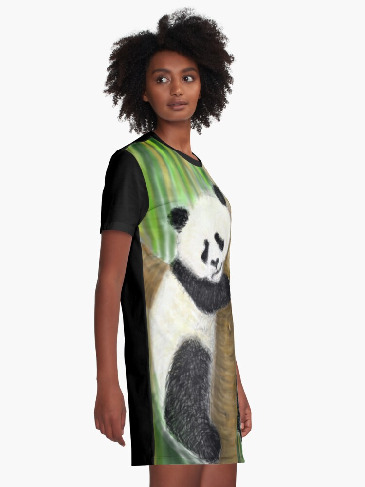 Alternate view of panda forest tree  Graphic T-Shirt Dress