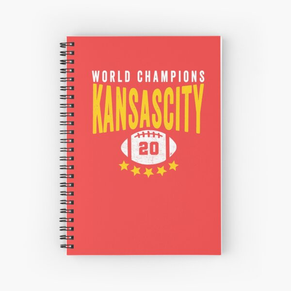 KC Face mask Kansas City facemask Kansas City Red KC World Champions 2020 Sports Fan Classics Spiral Notebook