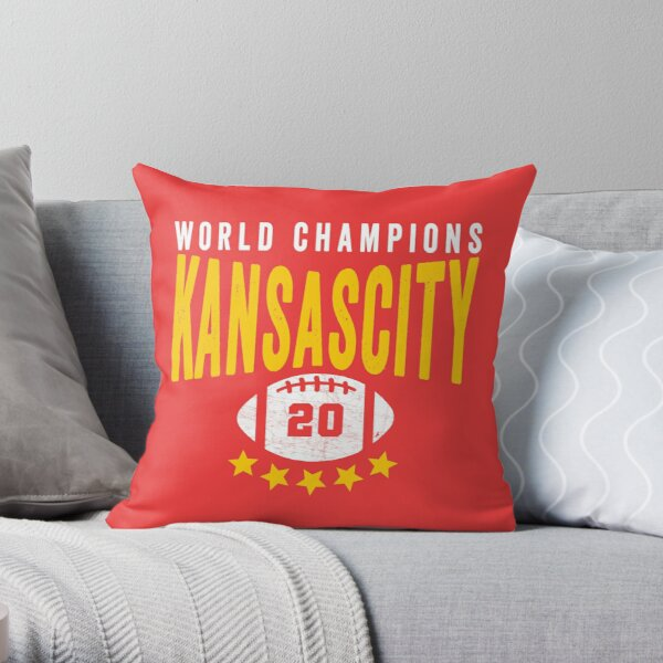 KC Face mask Kansas City facemask Kansas City Red KC World Champions 2020 Sports Fan Classics Throw Pillow