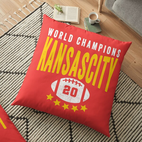 KC Face mask Kansas City facemask Kansas City Red KC World Champions 2020 Sports Fan Classics Floor Pillow