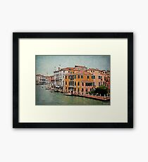 Venetian Canal Intersection Framed Print