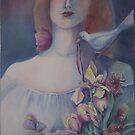 Springtime ala Mucha by Ellen Keagy