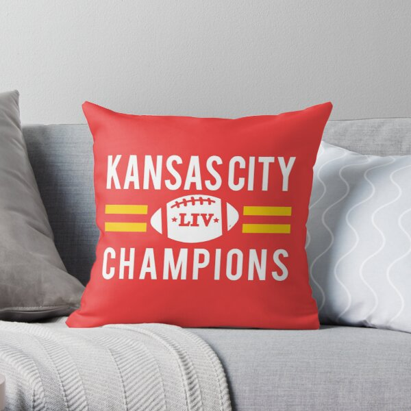 KC Face mask Kansas City facemask Kansas City Red KC 2020 World Champions Champs Kc Sports Fan Classics Throw Pillow