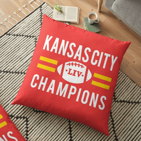 KC Face mask Kansas City facemask Kansas City Red KC 2020 World Champions Champs Kc Sports Fan Classics Floor Pillow