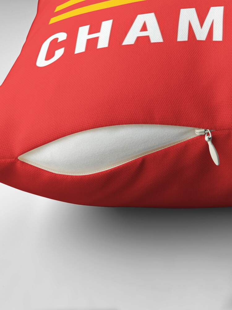 Alternate view of KC Face mask Kansas City facemask Kansas City Red KC 2020 World Champions Champs Kc Sports Fan Classics Throw Pillow