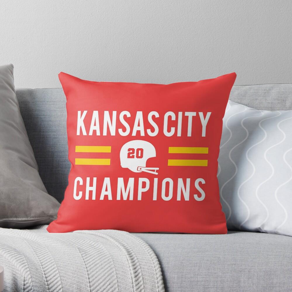 KC Face mask Kansas City facemask Kansas City Red KC 2020 World Champions Champs Kc Sports Fan Classics Throw Pillow