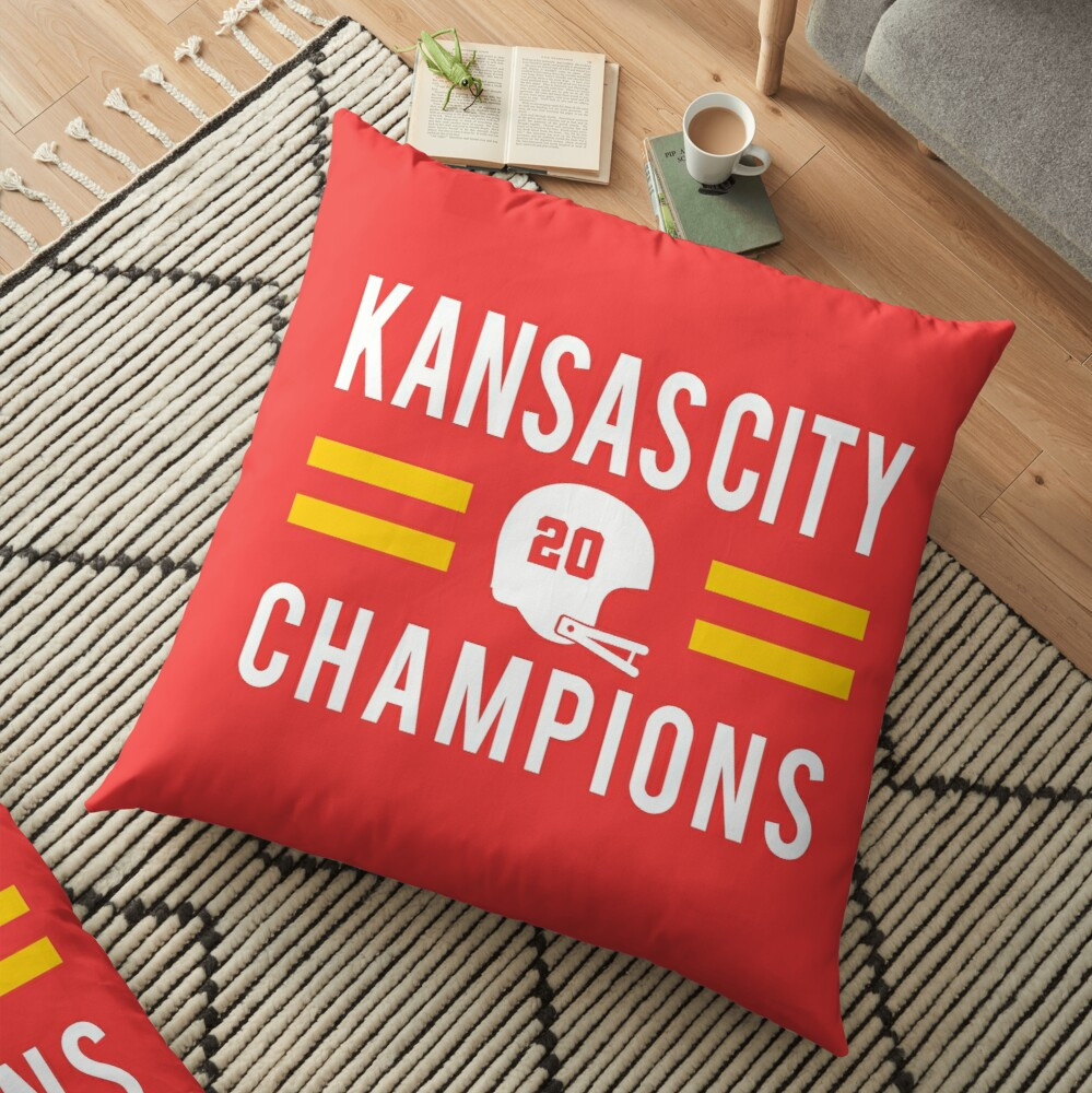 KC Face mask Kansas City facemask Kansas City Red KC 2020 World Champions Champs Kc Sports Fan Classics Floor Pillow