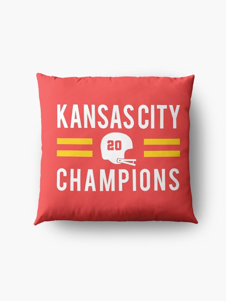 Alternate view of KC Face mask Kansas City facemask Kansas City Red KC 2020 World Champions Champs Kc Sports Fan Classics Floor Pillow