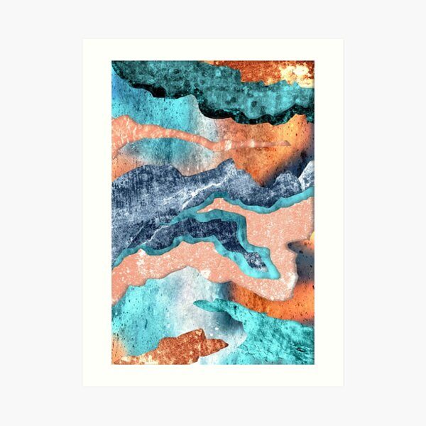 Abstract Ink Colors and Patterns Art Print