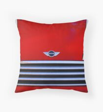 mini red Throw Pillow