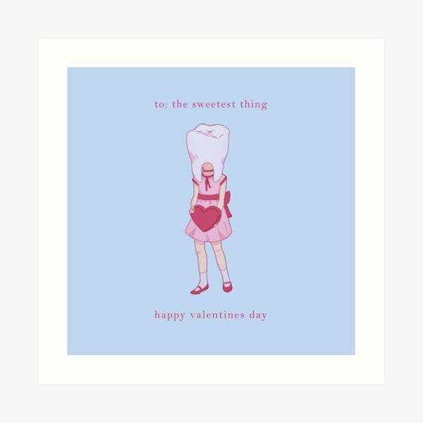 Valentines: Tooth Girl  Art Print