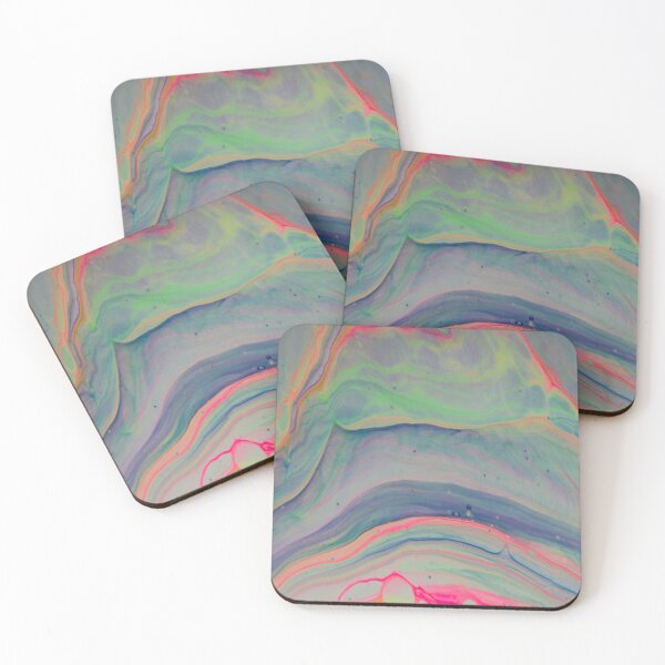 Marble Opal Coasters (Set of 4)