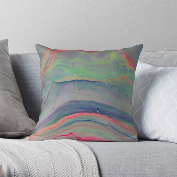Marble Opal Throw Pillow