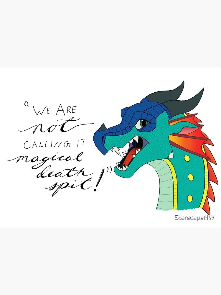 """Wings of Fire Glory Quote """" Art Board Print by StarscapeNW 