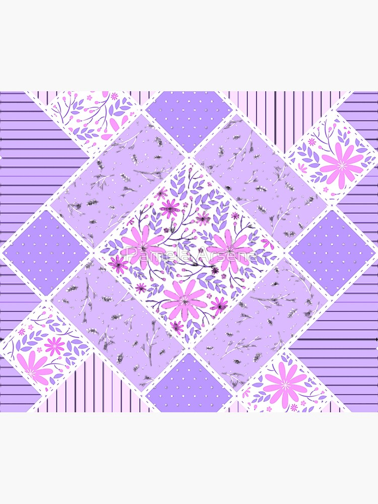 Distressed Lavender Patchwork Quilt by xpressio